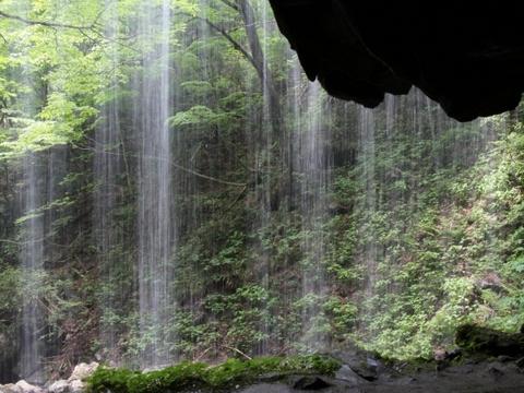 裏側から見る滝