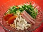 サラダ風冷麺(トマトダレ):赤穂飯店
