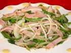 もやしとハムの塩味炒め:赤穂飯店
