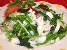 ヤリイカとほうれん草の前菜:赤穂飯店